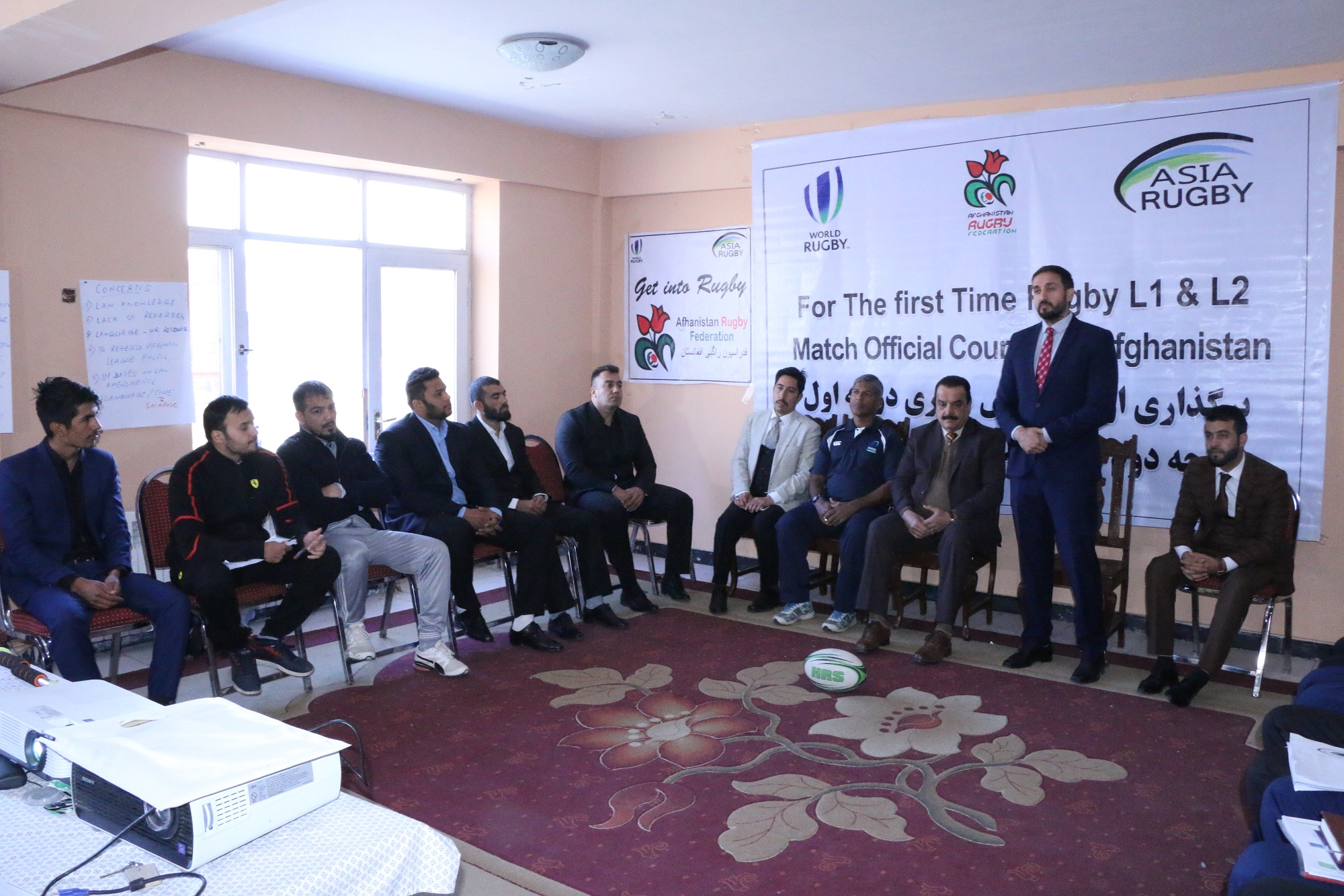 ظرفیت سازی برای آینده رگبی و فدراسیون ملی رگبی روز گذشته سیمینار آموزشی داوری را در کابل راه اندازی نمود