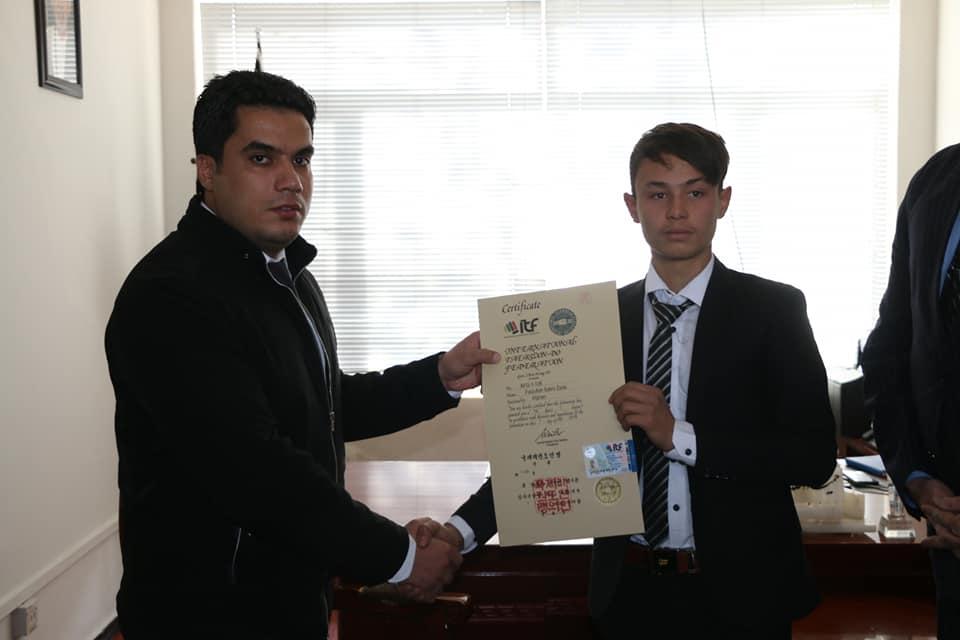 مربیان فدراسیون تکواندوی آی تی اف سند های بین المللی شان را کسب کردند.