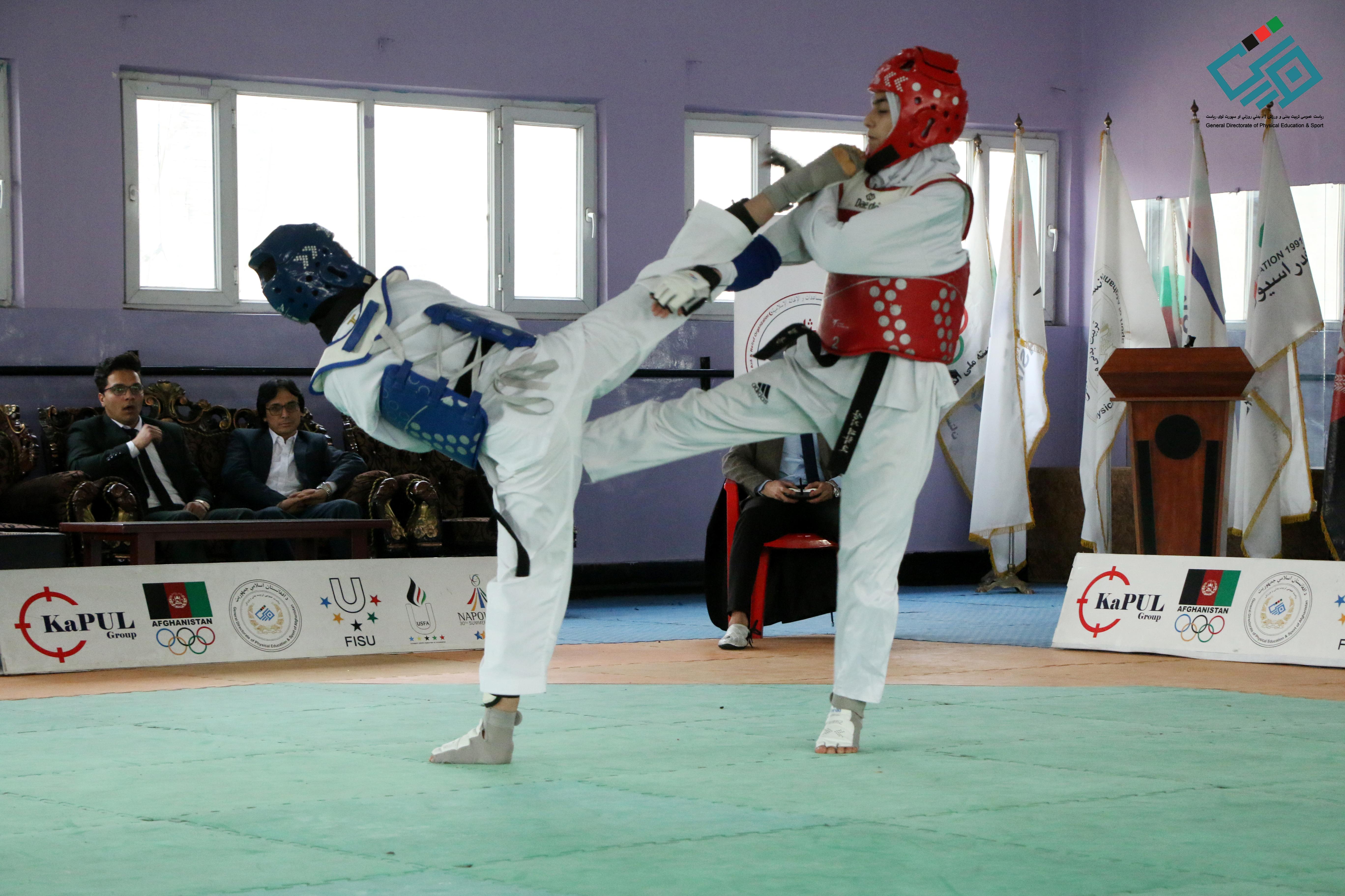 رقابت تکواندو در بخش بانوان امروز در کابل برگزار شد.